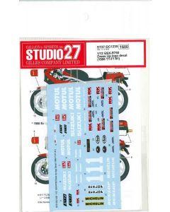 ST27DC1235 Studio 27 1/12 Suzuki GSX-R750 Dress Up logo decal (1986 TT-F1 #1)