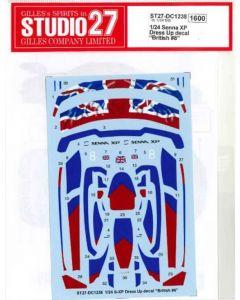 ST27DC1238 Studio 27 1/24 McLaren Senna XP Dress-up decals (British #8)
