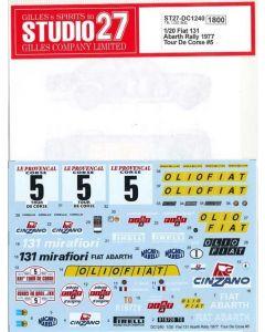 ST27DC1240 Studio 27 1/20 Fiat 131 Abarth #5 Corsica 1977 winner