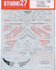 "ST27DC621C Studio 27 1/12 Honda RC211V ""Fortuna"" MotoGP 2002"