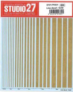 ST27FP0031 Studio 27 Line decal: Gold