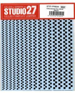 ST27FP0034 Studio 27 Checkered line decal : Black