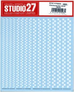 ST27FP0035 Studio 27 Checkered line decal : White
