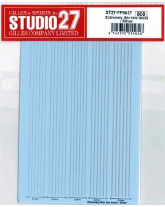 ST27FP0037 Studio 27 Thin line decal: Silver