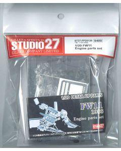 ST27FP20126 Studio 27 1/20 Williams FW11 engine parts set (1986 early season)