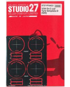 ST27FP24221 Studio 27 1/24 Group C cars Tyre Template D