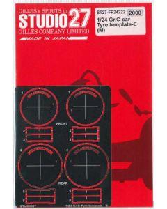 ST27FP24222 Studio 27 1/24 Group C cars Tyre Template E