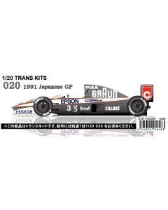 ST27TK2030R Studio 27 1/20 Tyrrell 020 Japan 1991