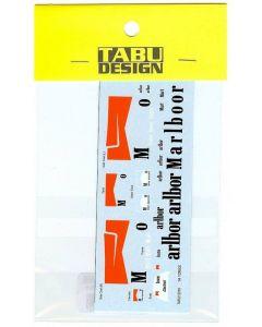TABU12018 Tabu Design 1/12 Yamaha YZR500 1994 sponser decals