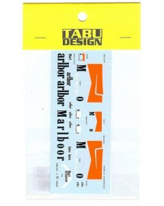 TABU12025 Tabu Design 1/12 Yamaha YZR500 1995 sponser decals