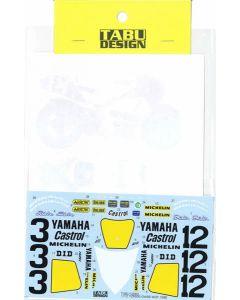 TABU12060 Tabu Design 1/12 Yamaha YZR500 (OW98) 1988 WGP500 Champion full sponsor decals