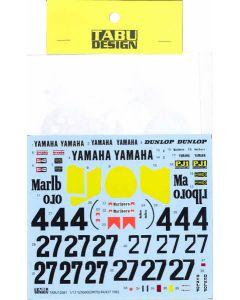 TABU12081 Tabu Design 1/12 Yamaha YZR500 (OW70) #4/#27 1983