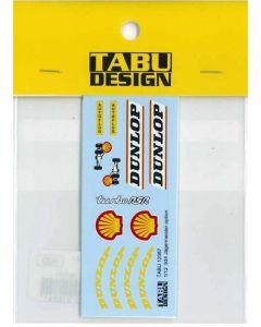 "TABU12087 Tabu Design 1/12 Porsche Turbo RSR 934 ""Jägermeister"" option decals"