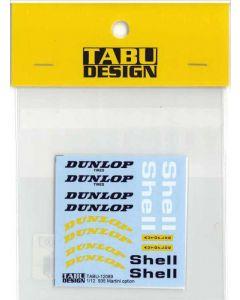 "TABU12089 Tabu Design 1/12 Porsche 935 Turbo ""Martini"" option decals"
