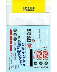 TABU18001 Tabu Design 1/18 BAR-Honda 006 2004 sponser decals