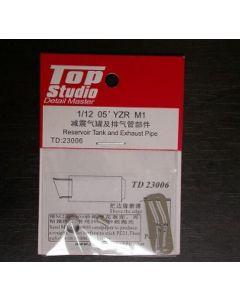 TSTD23006 Top Studio 1/12 Yamaha YZR-M1 2005 reservoir tank and exhaust pipe