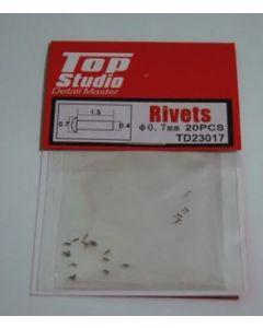TSTD23017 Top Studio 0.7mm Rivets