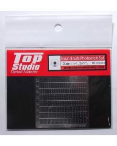 TSTD23041 Top Studio Round nuts photo-etched set (0.6mm - 1.3mm)
