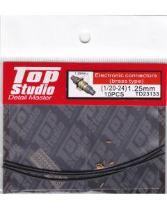 TSTD23133 Top Studio 1/20 - 1/24 1.25mm Electronic Connectors (brass type)