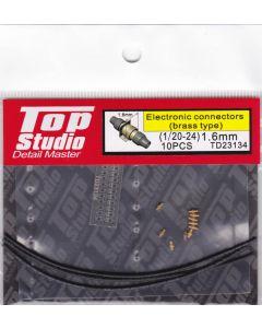 TSTD23134 Top Studio 1/20 - 1/24 1.6mm Electronic Connectors (brass type)