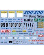 """SHKD348 Shunko Models 1/24 Peugeot 206 WRC """"Esso"""" #9/#10/#17 Monte-Carlo 2000"""